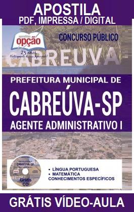 Apostila Prefeitura de Cabreúva - Grátis CD Rom (PDF) Impressa, Digitais e Simulados