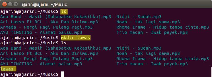 Perintah dasar linux - mkdir