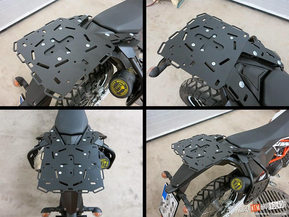 Perun Moto rear rack extension plate for KTM 690 Enduro / SMC