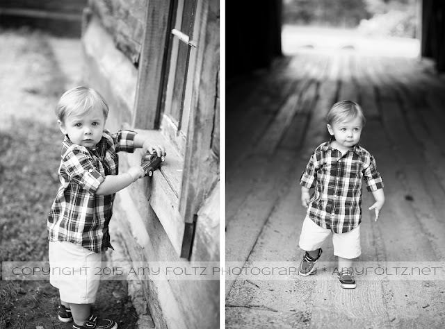black and white photos of toddler boy at Fowler Park in Terre Haute