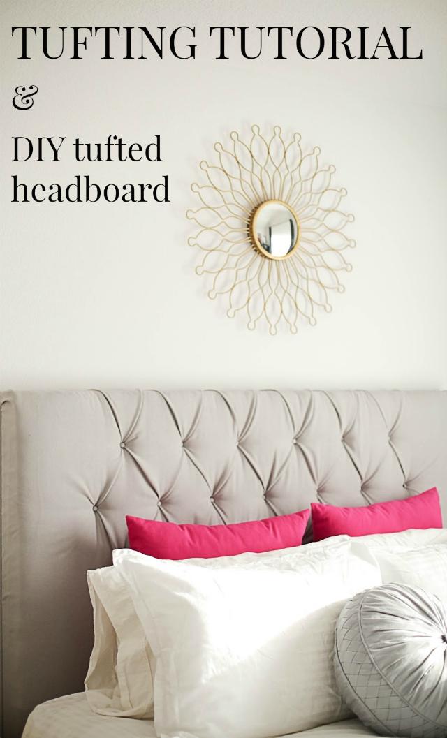 Diy tufted king size headboard