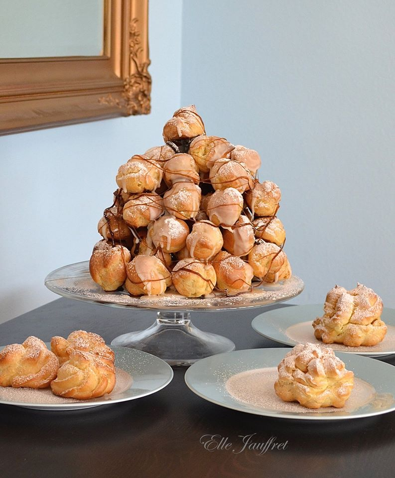 Elle Jaufret, white cathedral, croquembouche