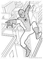 Gambar Mewarnai Spiderman