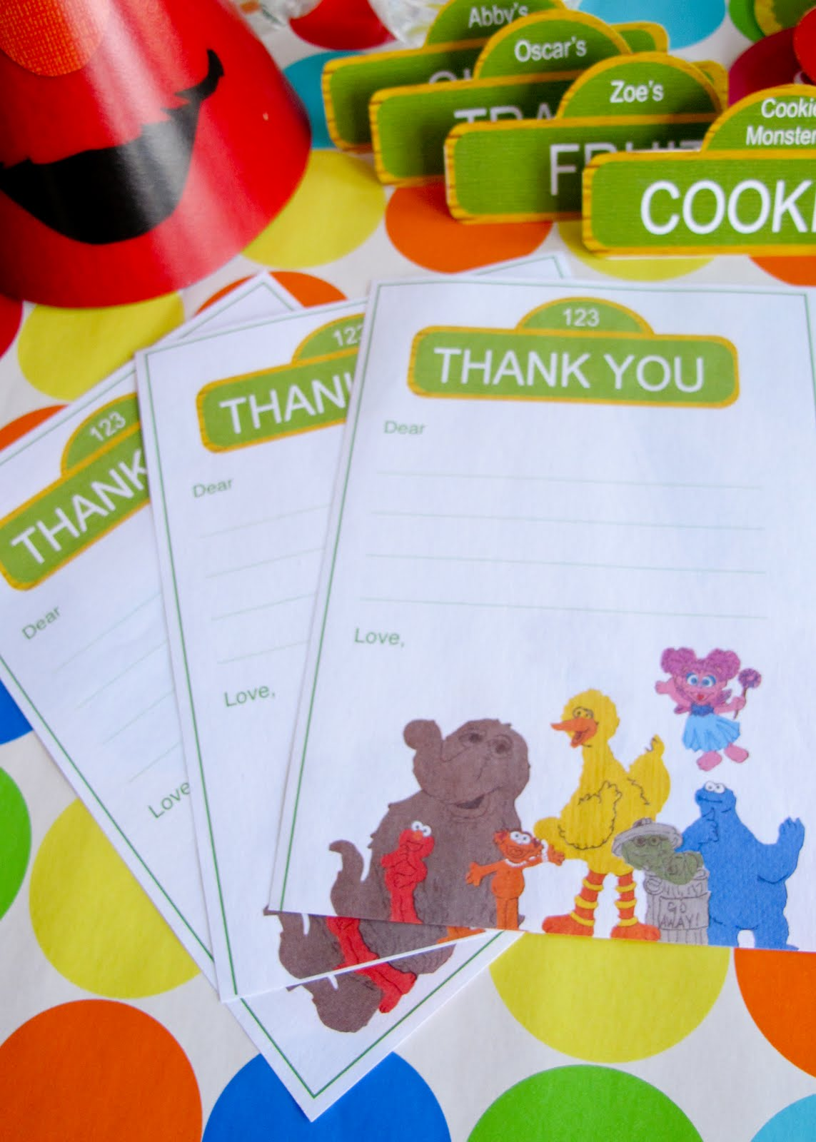 Sesame Street Party Guide Invitations Thank Yous