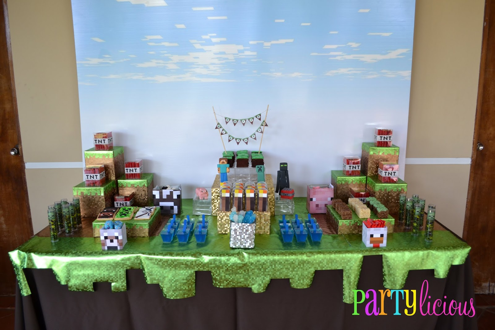 Partylicious events pr minecraft birthday party for Decoration goods