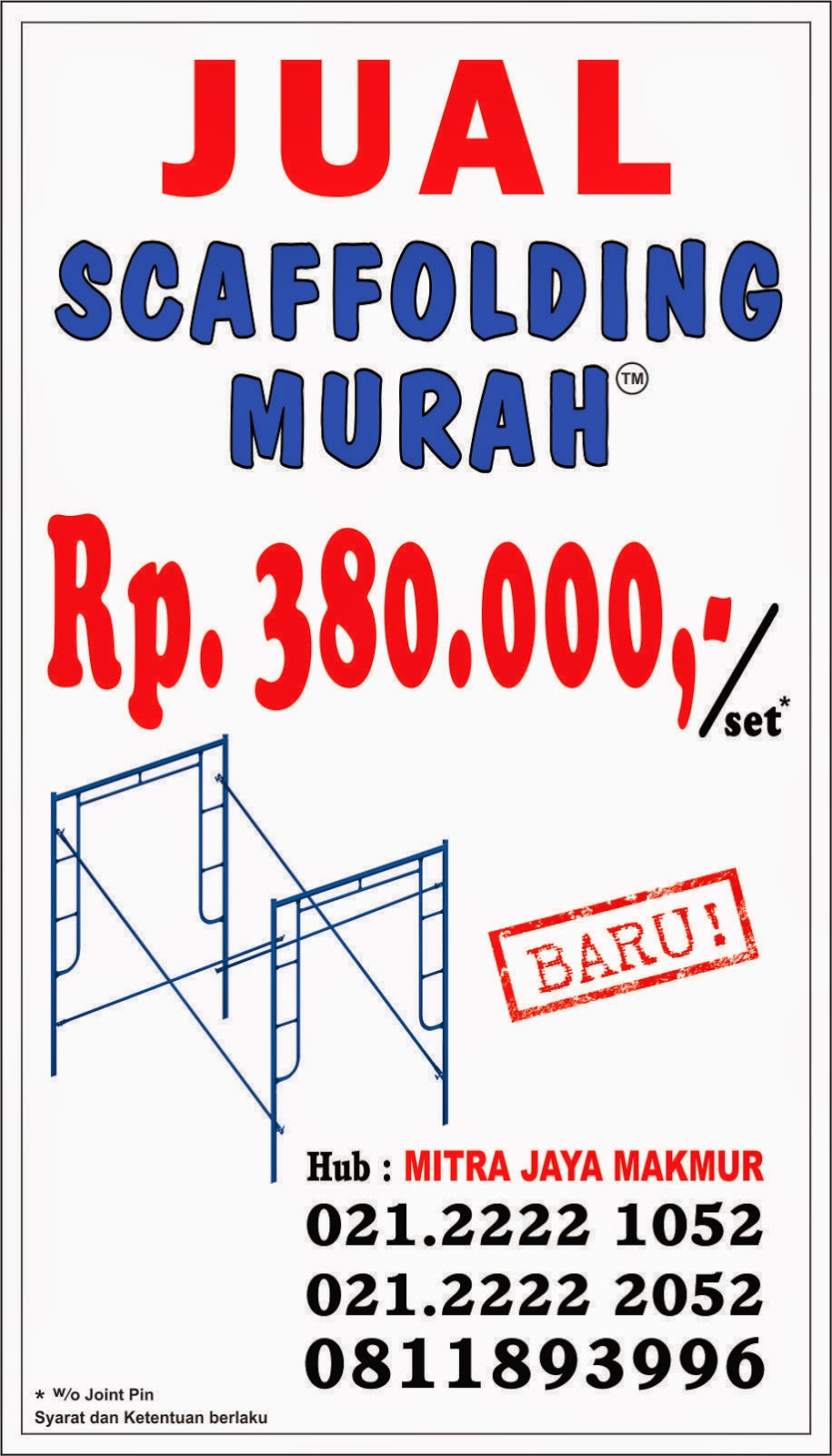 Jual Scaffolding Tangerang - 0811 893 996