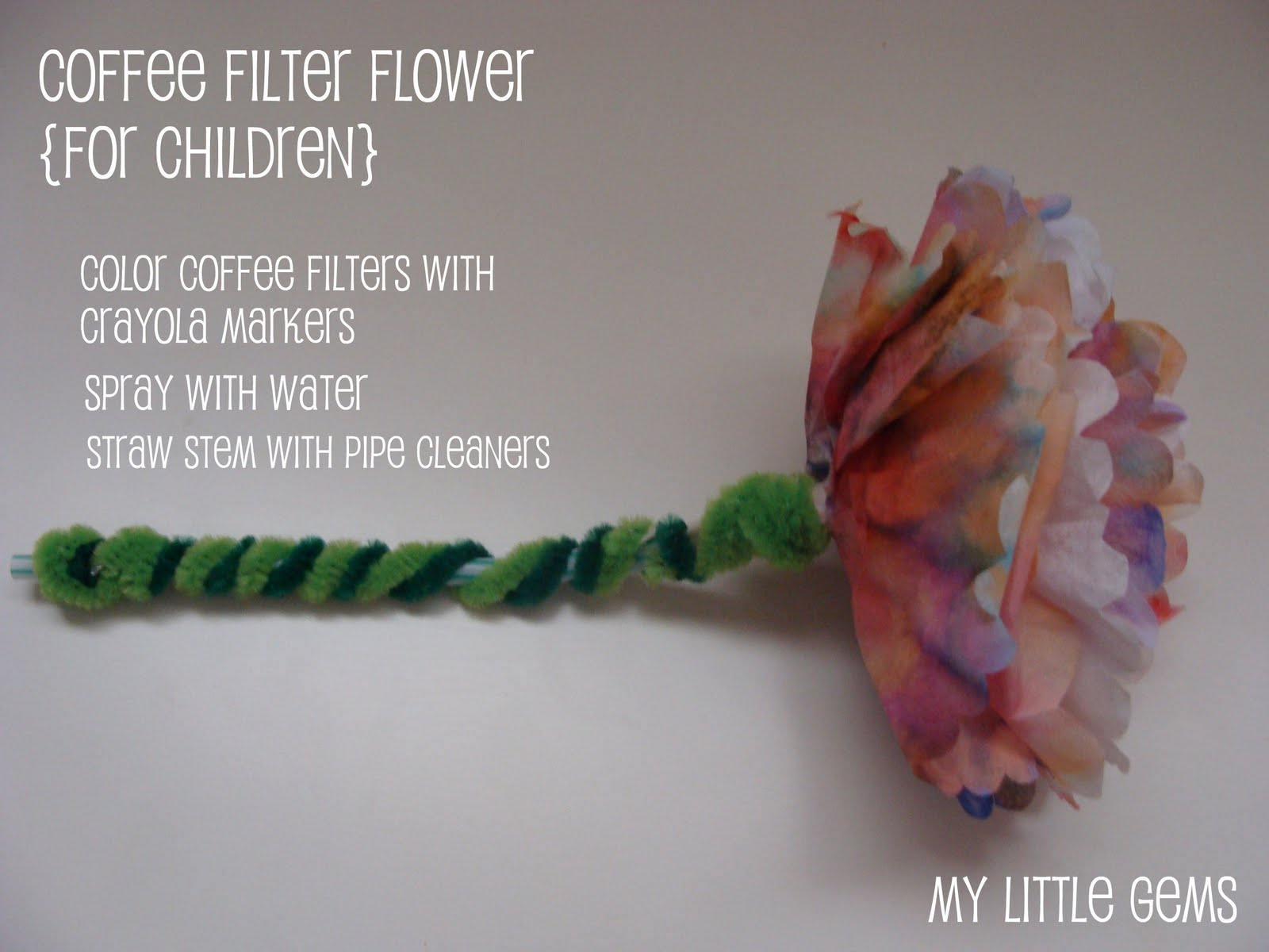 how to make coffee filter flowers with food coloring