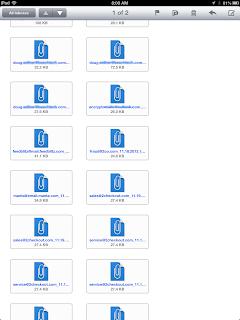 Eml files shown in Klammer app.