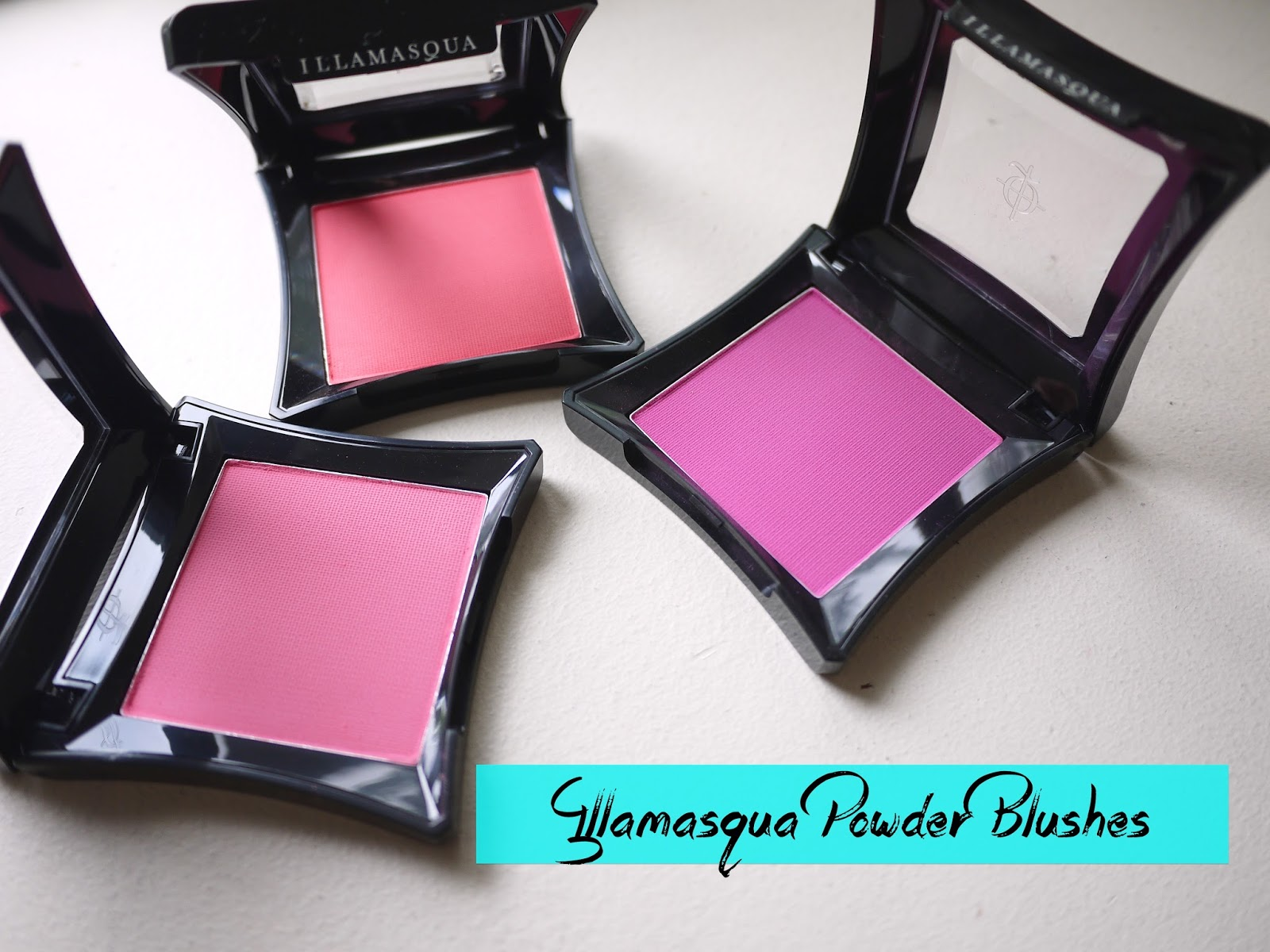 illamasqua powder blushes hussy trust chased swatch review