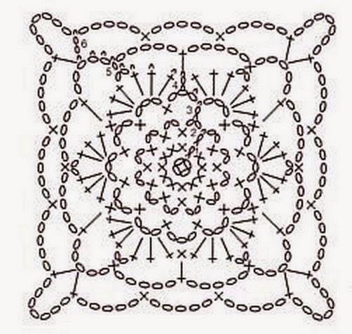 Выполненные крючком квадратные мотивы используются при вязании не только различной одежды, но и в вязании для дома