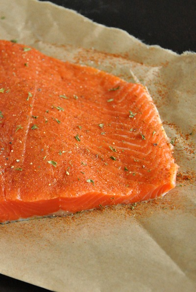 Seasoned Raw Salmon