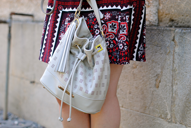 laser cut bucket bag