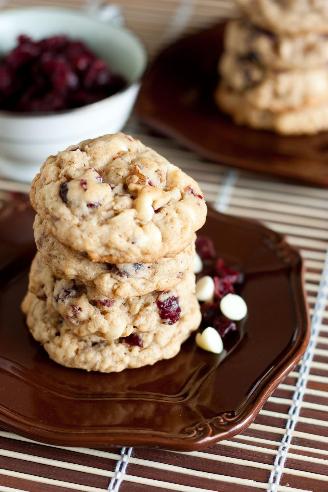 oatmeal cranberry white chocolate chip cookies aka granola bar cookies