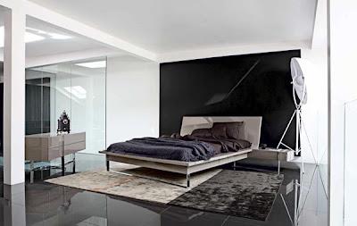 habitación blanco y negro