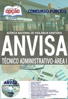 Apostila Anvisa 2016 - GRÁTIS CD (Área 1) TÉCNICO ADMINISTRATIVO