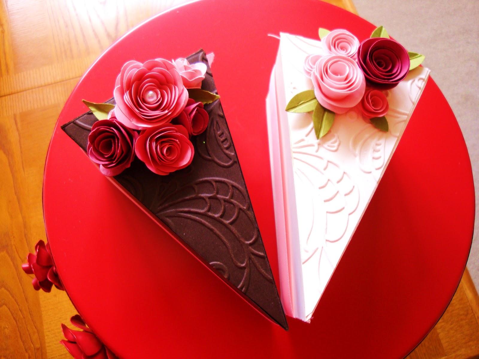 Beautiful Cake Piece Images : penguinstamper: Petal Cone Die Cake Piece
