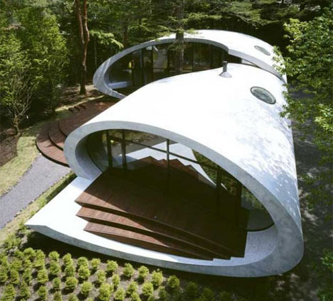 House Design: Ultra Modern Home Spiral Shell