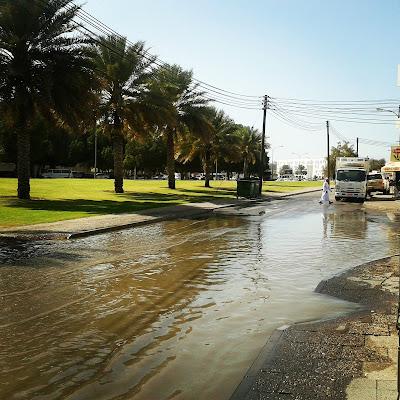 Raining in Muscat