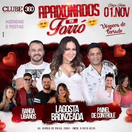 APAIXONADOS POR FORRÓ NO CLUBE 360 EM FORTALEZA - CE 01 DE NOVEMBRO
