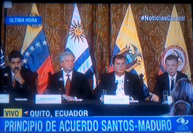 Prevalece la sensatez en acuerdo Maduro-Santos en Quito « Caracol Televisión Colombia ☼ video - CúcutaNOTICIAS