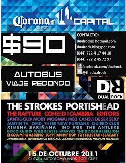 Transporte Corona Capital desde Toluca