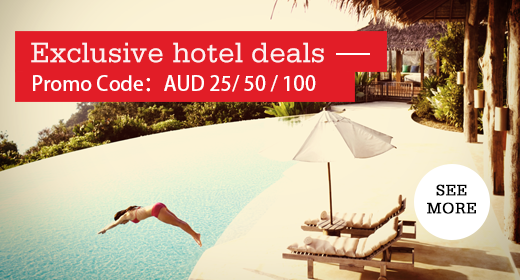 Hotelclub最新訂房優惠碼,用澳元付款可獲加倍飛行里數獎賞。