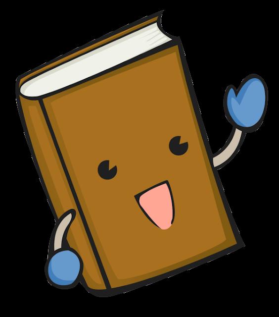 Livro fofinho desenho colorido com fundo transparente