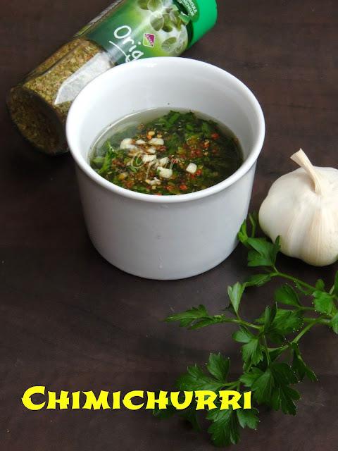 Chimichurri, chimmichurri, Argentinean Green Sauce