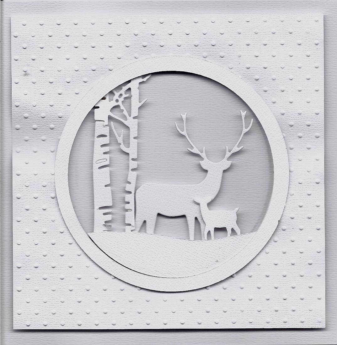 John VM's Cards: Multi Layered Die Cut Christmas Card