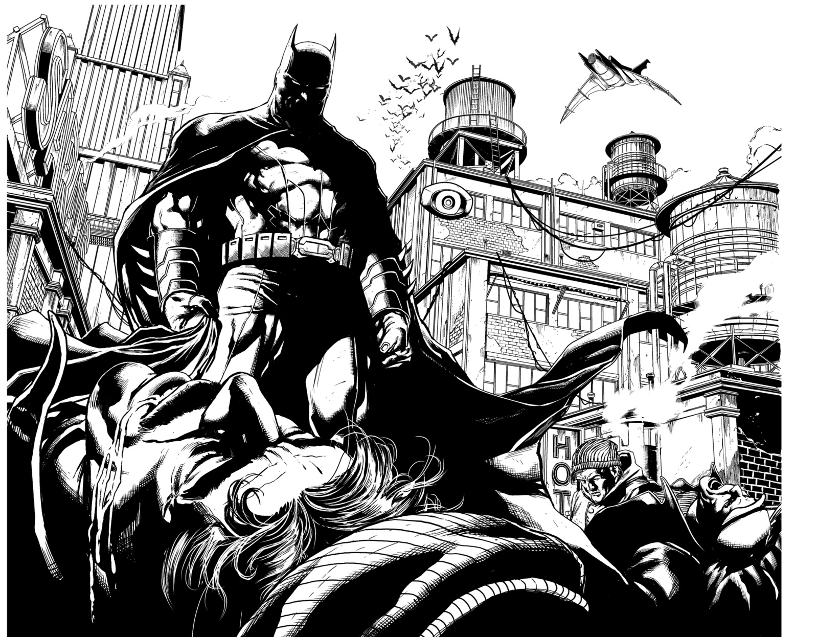 Comic Book Cover Black And White : Jason fabok detective comics review roundup