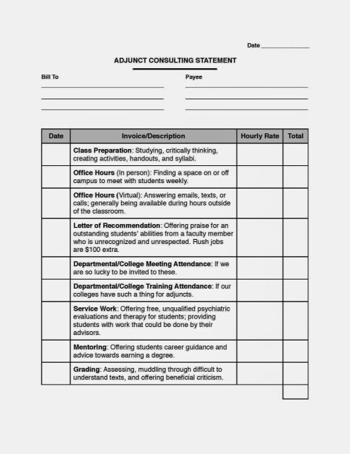 Adjunct Consulting Form