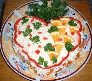 Салат с двумя начинками