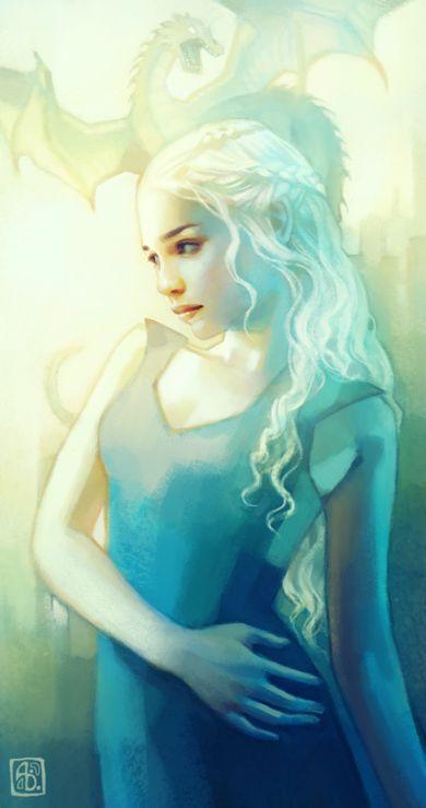 Anna Dittmann escume deviantart ilustrações belas singelas surreal mulheres Khaleesi