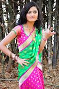 Pujitha sizzling in half saree-thumbnail-6