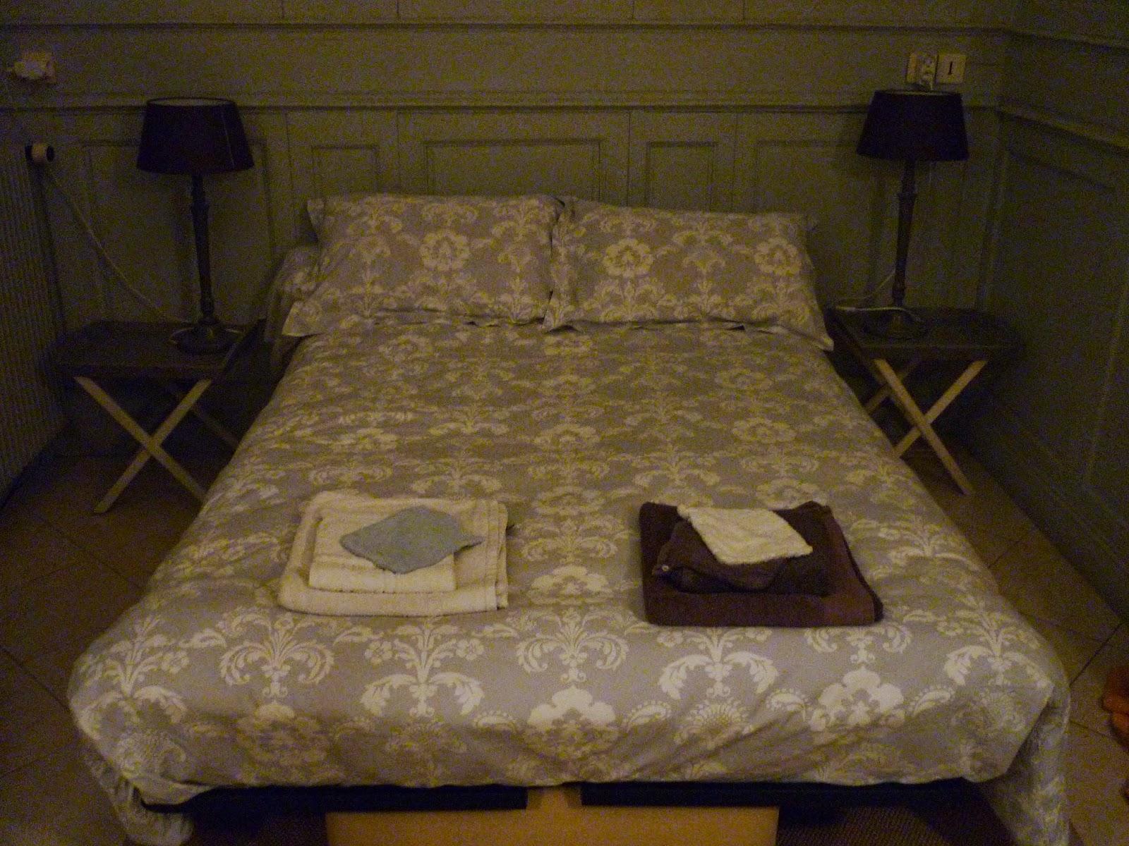 Chambre double n°2 du Manoir de Beaurepaire en Normandie