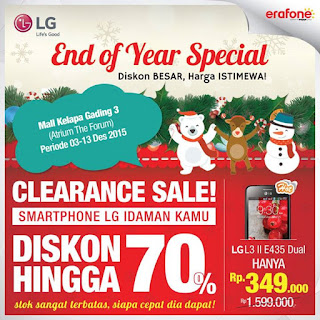 LG End Of Year Special Smartphone Diskon Hingga 70%