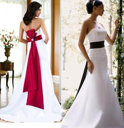 Black  White Wedding Dress on Red And White Wedding Dress Designs For Christmas Day