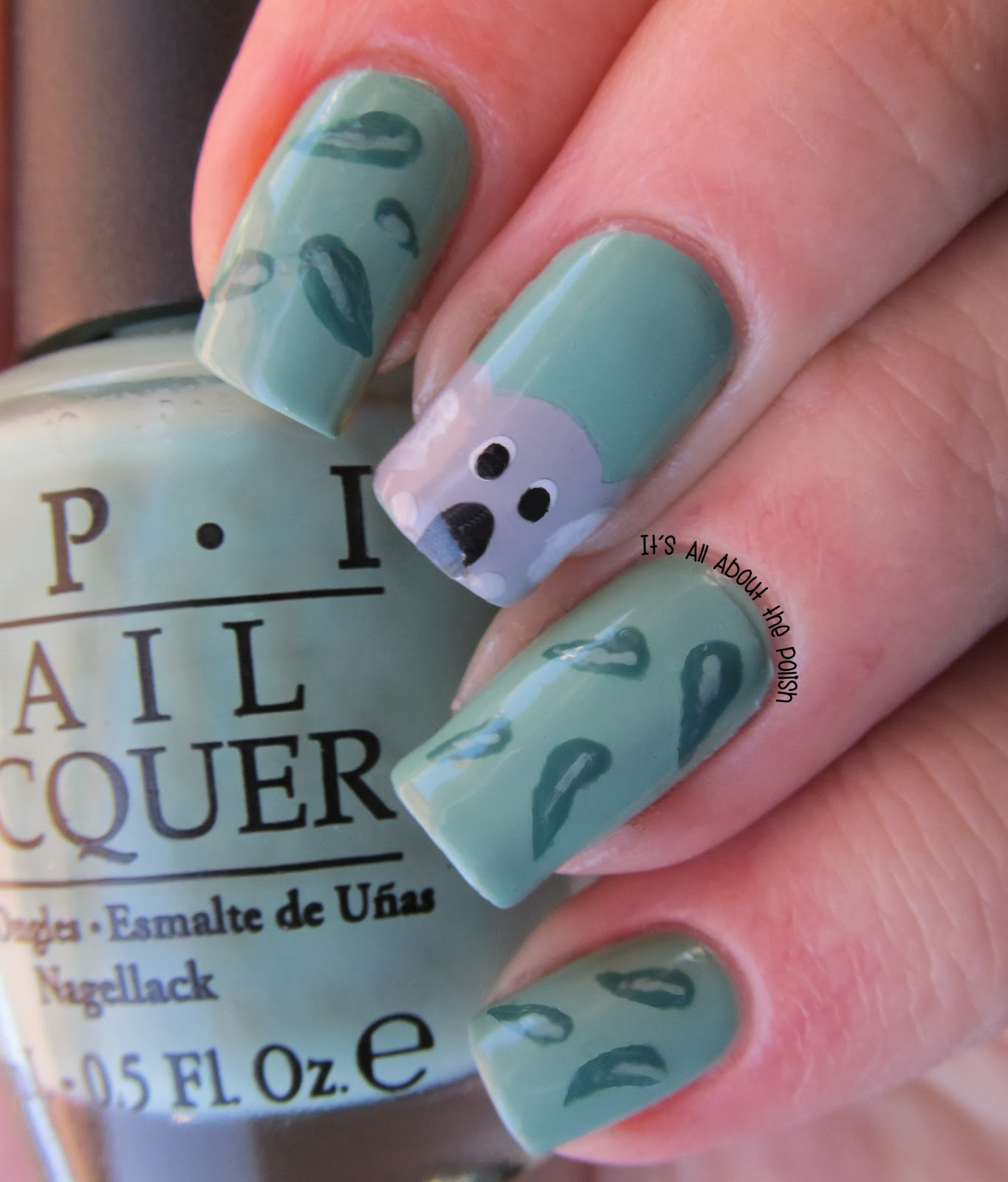 It\'s all about the polish: Koala and gum leaves nail art