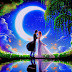 Romantic Love Pictures for her - Hug and Kiss, Couples Dance in Moonlight Wallpaper, Images, Photos