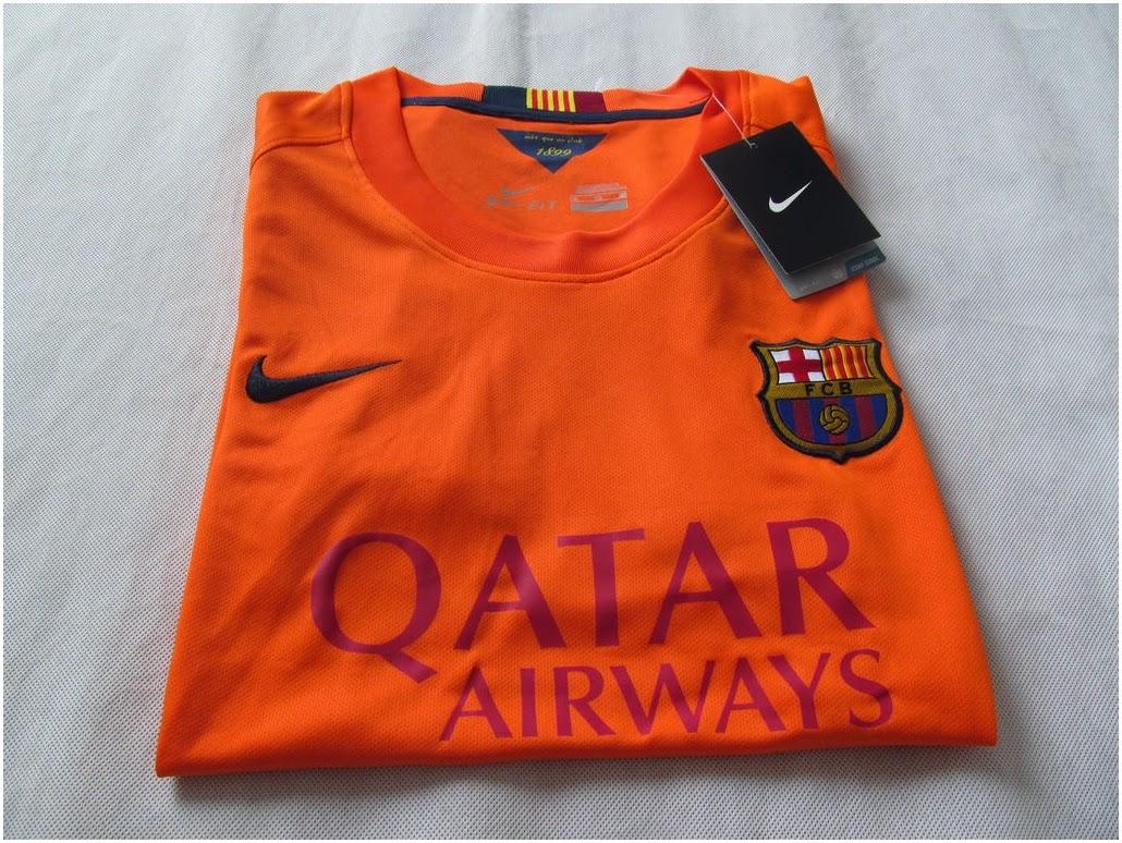 Baju Bola Cewek Barcelona Away New 2015