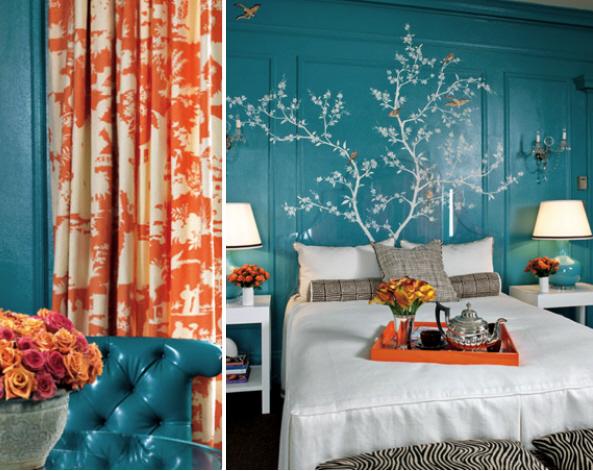 Cottage Blue Designs Blue Amp Orange Inspirations
