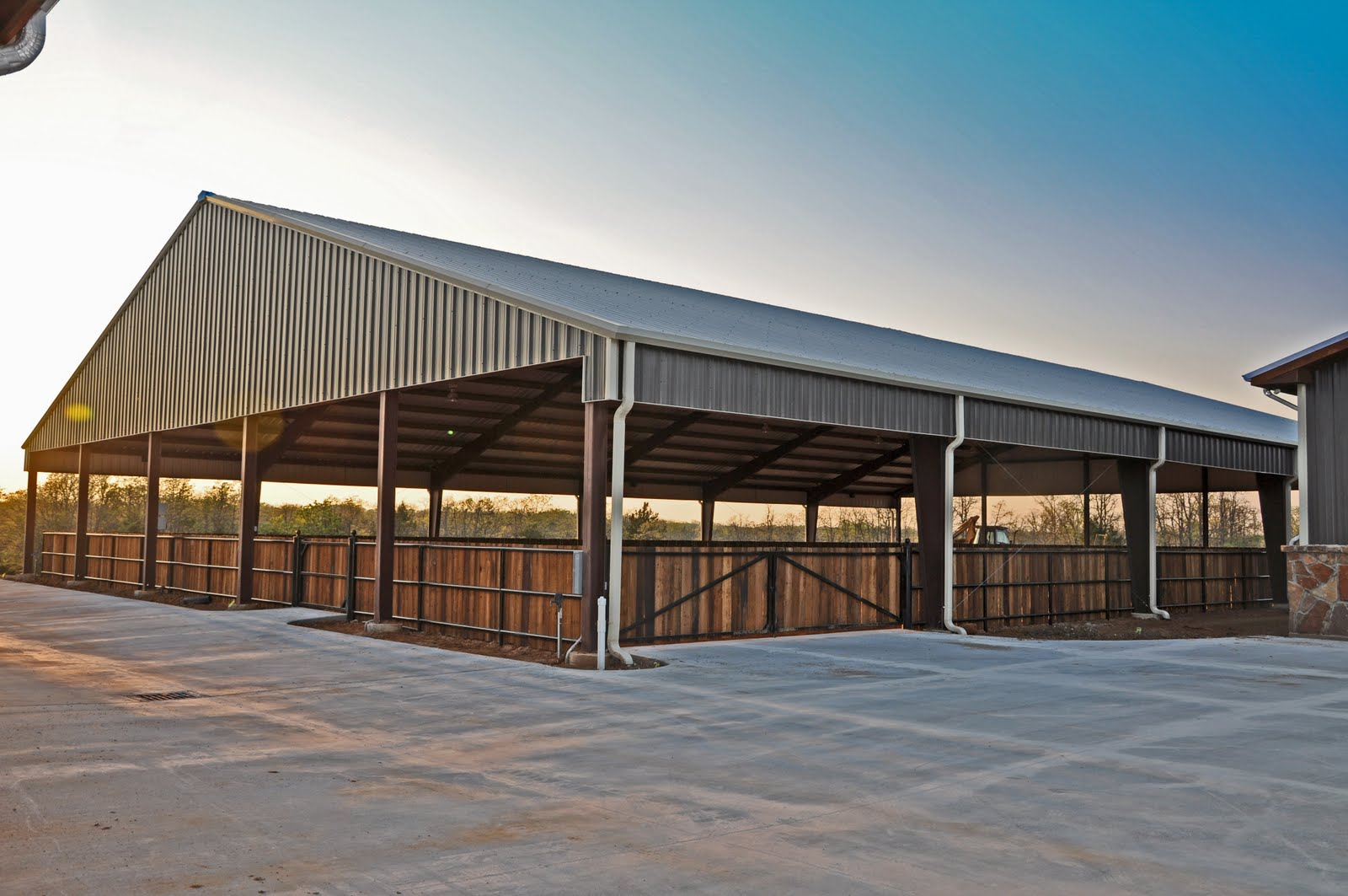 clayton boyd industries custom horse barn covered riding With covered riding arena