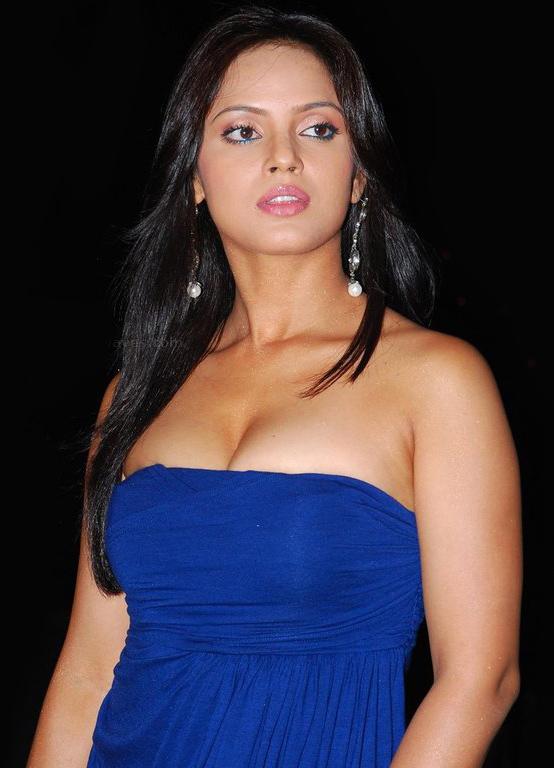 ... : Bollywood Actress Neetu Chandra in Tight Gorgeous Blue Dress Stills