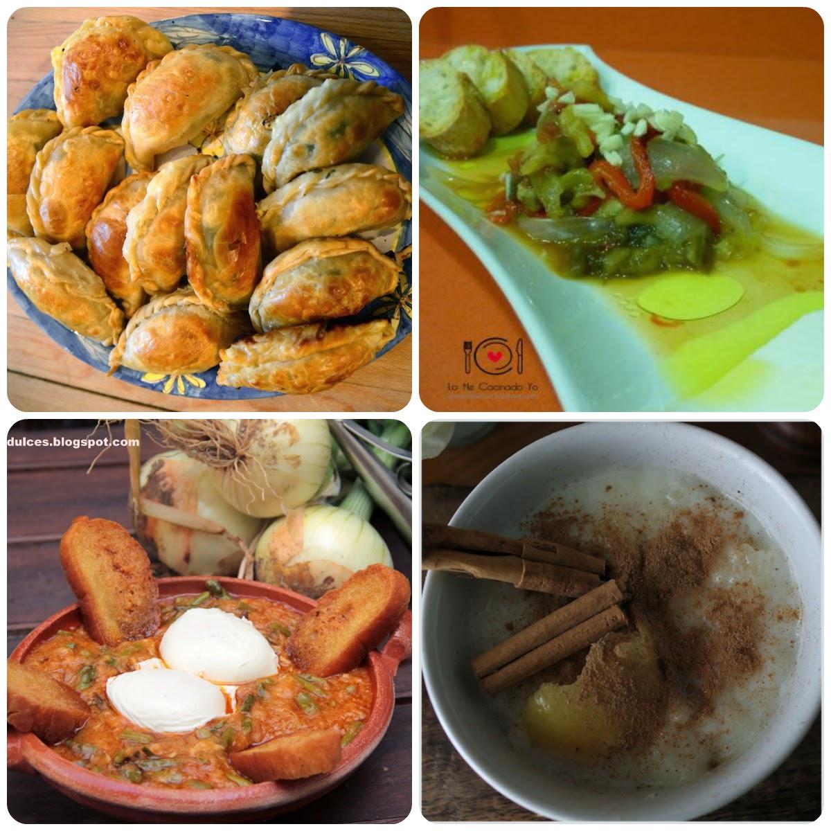 Recetas del 16 Menú vegetariano con recetas de otros blogs.
