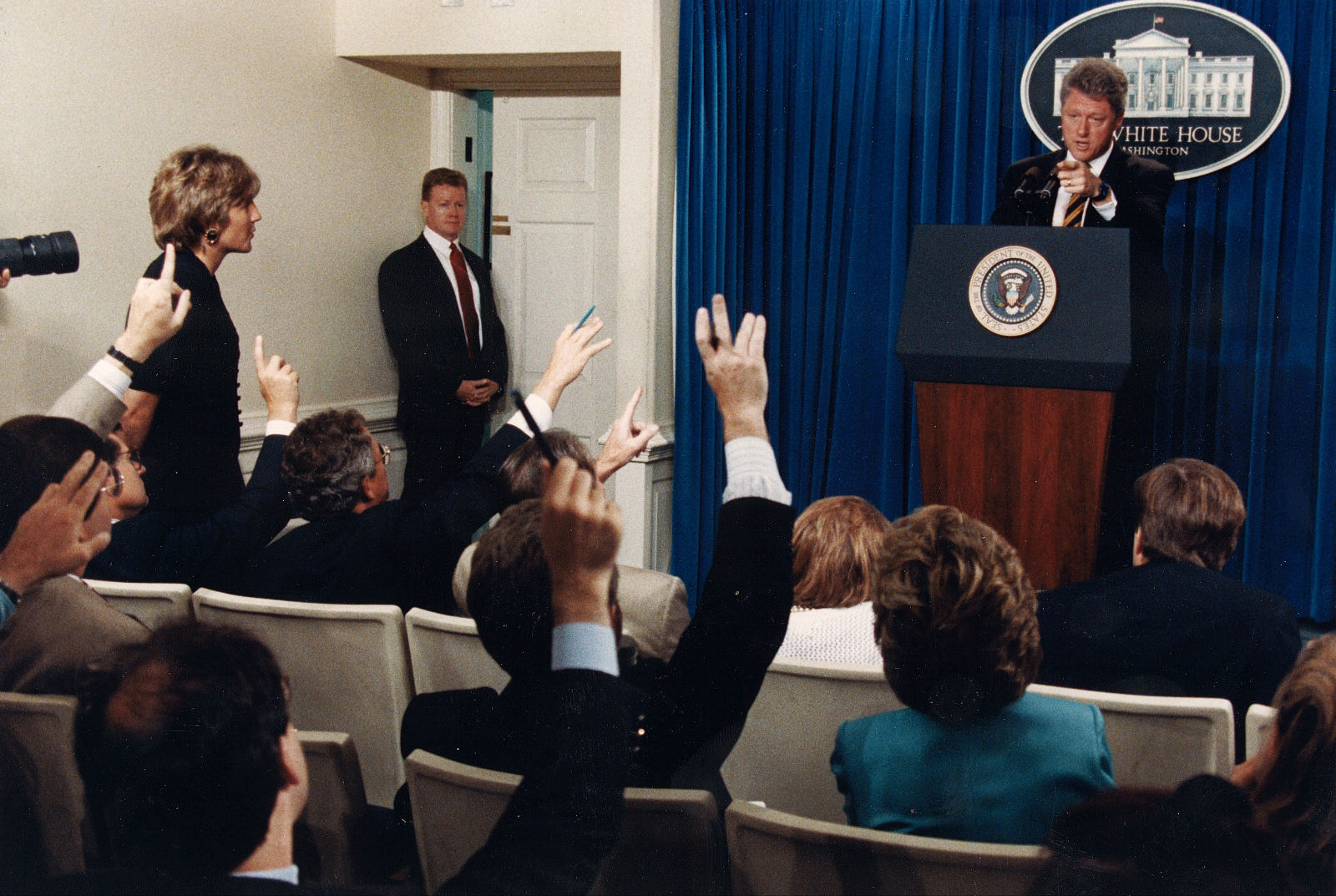 Secret Service Agent Dan Emmett & President Clinton