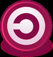 Copyleft movement symbol red
