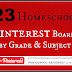 Homeschool Resources - 23 Pinterest Boards by Grade and Subject