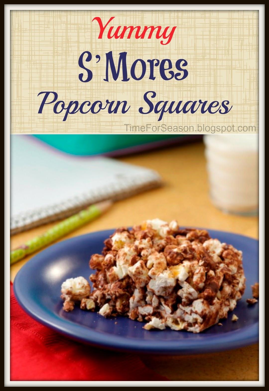 http://timeforseason.blogspot.com/2014/05/smores-popcorn-squares-recipe.html