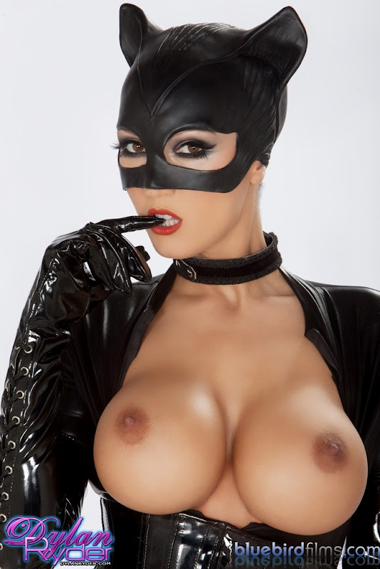 ... batman brunette catwoman costume dylan ryder huge tits porn star solo