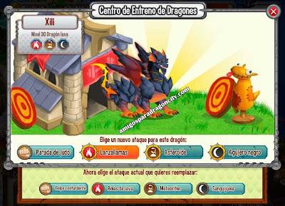 imagen de los ataques del dragon lava